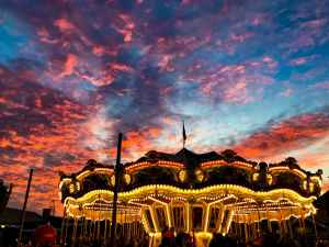 Carousel sunset