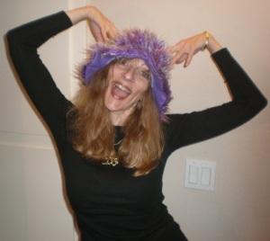 Silly purple hat