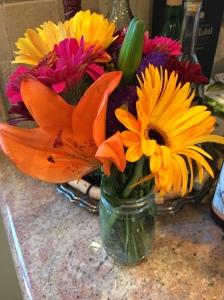 Autumn fall flowers bouquet