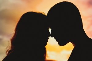 Couple silhouette romance