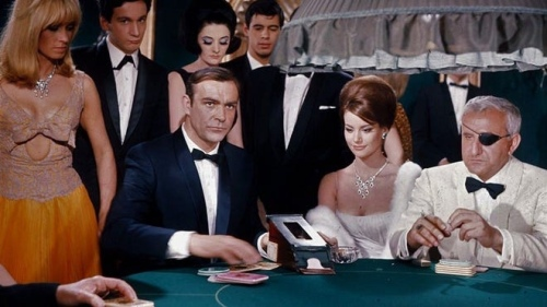 James Bond 007 playing Baccarat in Thunderball