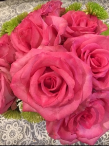 pink roses lace