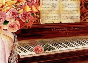 music romance roses piano