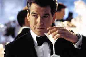 pierce brosnan bond tux martini