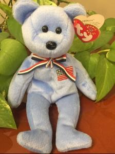 America beanie baby bear