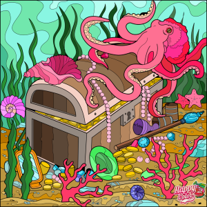 Octopus treasure sea