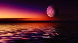 Moon magenta glow