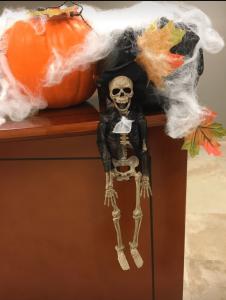 Office skeleton Halloween decor